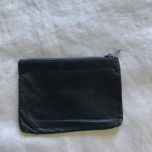 Vintage navy leather coin pouch